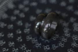 Zwarte zirkonium ringen met vingerafdruk 180C