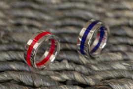 Zilveren plexiglas ringen