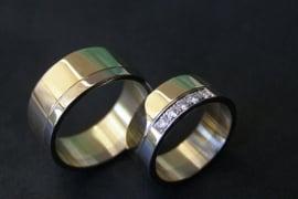 Geel gouden bi colour ringen
