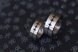 CTG Ring / Hartslag baby / Gemaakt in Titanium