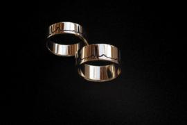 Gouden ECG ringen / Hartslag ring