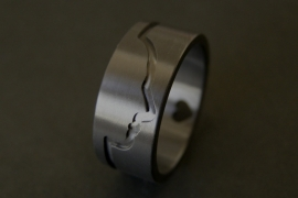 Zirkonium Profiel ring met <3
