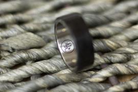 Carbon ring met Titanium binnenzijde