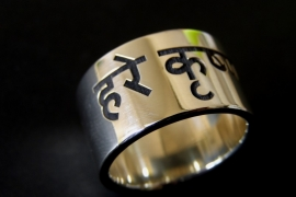 Naam ring / Hare krishna ring Zilver