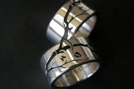 Cherry blossom ringen made by Kool Design