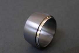 Zwarte zirkonium kool design ring
