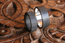 Carbon Vingerafdruk ring