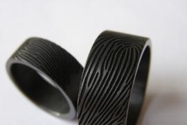 Zirkonium ringen met vingerafdruk 180c