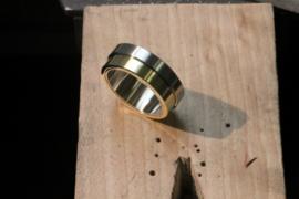 Staal Goud en Diamanten Prachtig ontwerp!