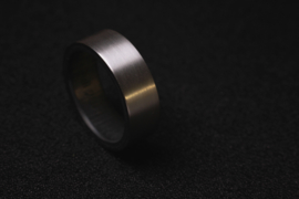 Carbon binnenzijde in Titanium ring
