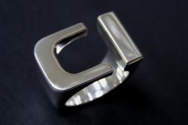 Kool Design Zilveren design ring