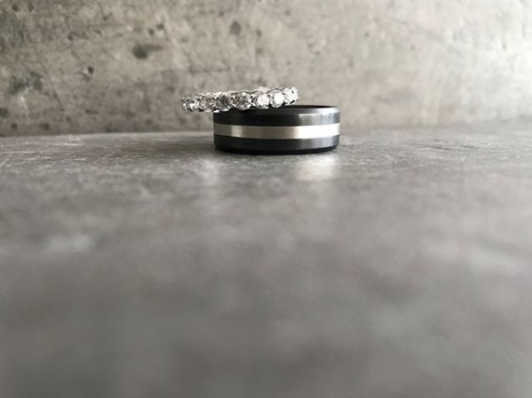 ARES Black Diamond Ring - Zilveren  band - 8 mm breed