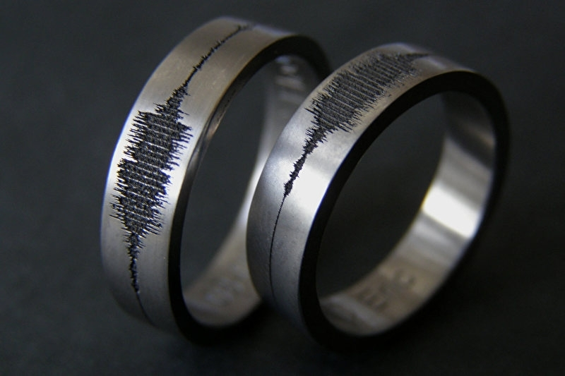 Geluidsgolf ring / Soundwave ring / Extra small