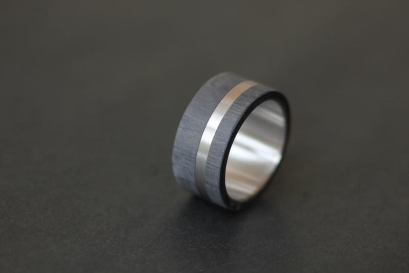 Carbon met Titanium en vingerafdruk 180 C