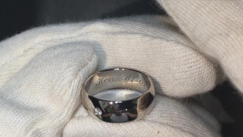 Witgouden vingerafdruk ring