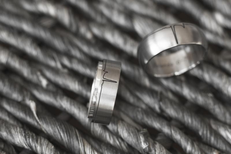 Paarden ECG / Titanium ringen