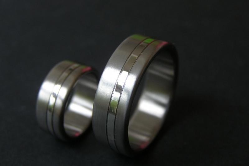 Titanium ringen met band 360c