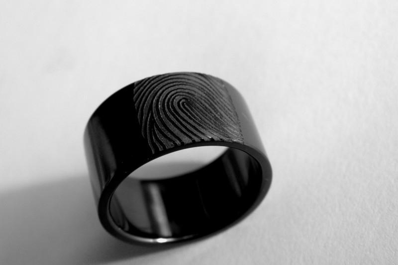 Zirkonium vingerafdruk ring