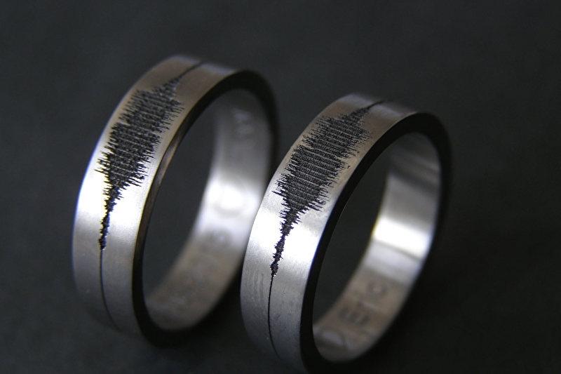Geluidsgolf ring / Soundwave ring / Extra small
