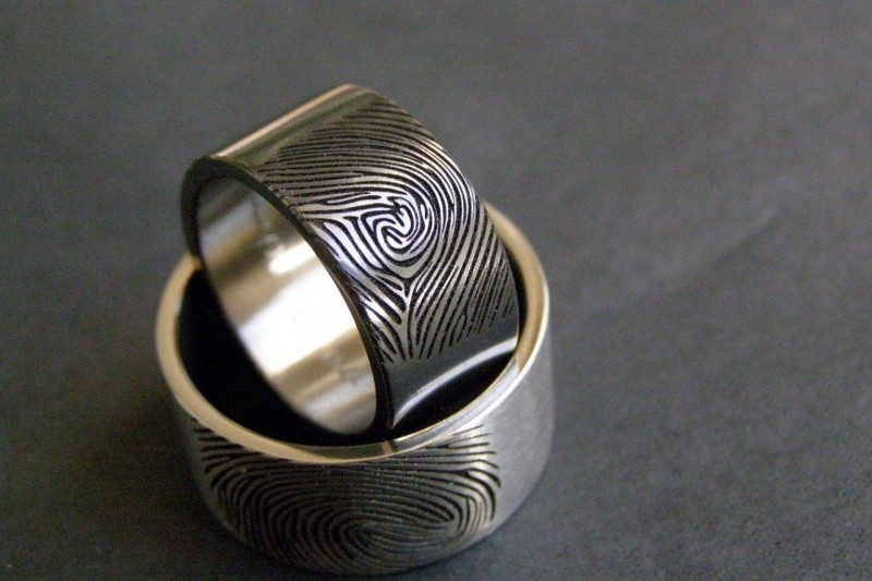 Zirkonium ring Zwart en Wit