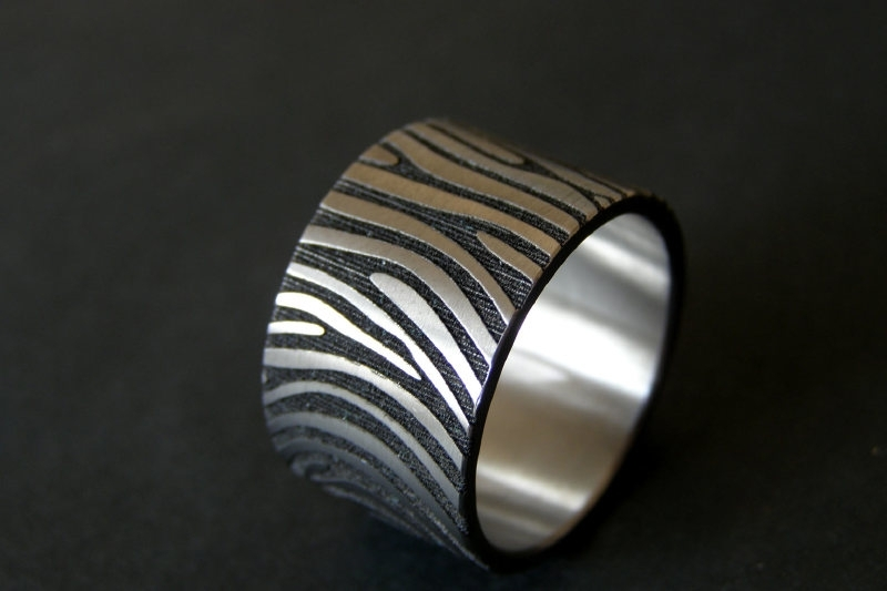 Vingerafdruk ring 360c 14mm breed