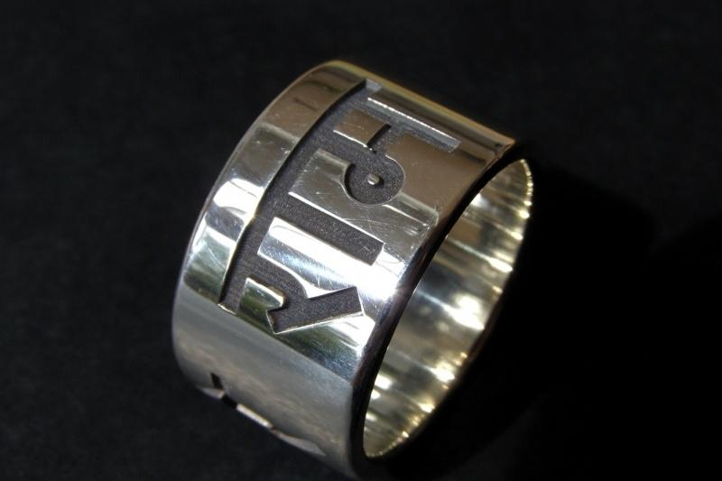 Naam ring / Hare krishna ring Zilver (Hare rama)