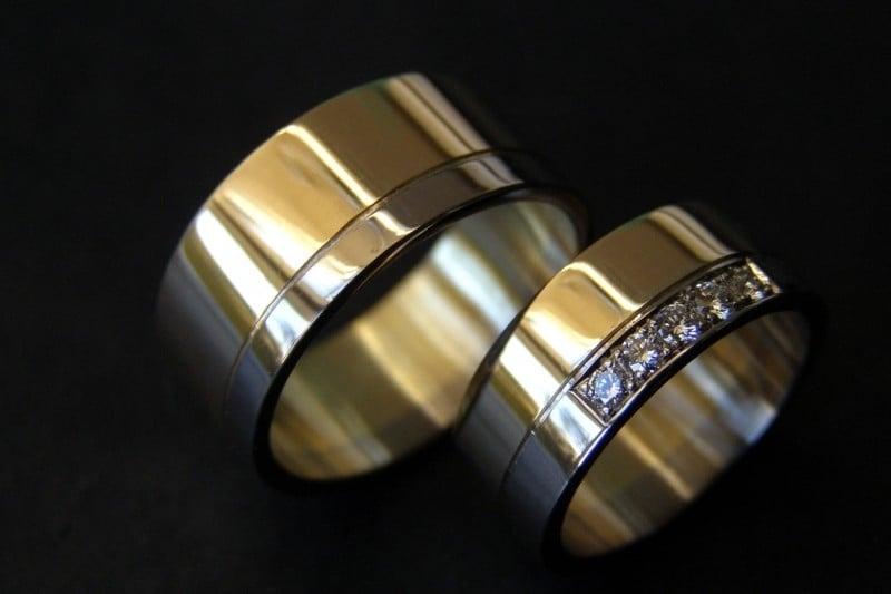 Geel gouden bi color ringen