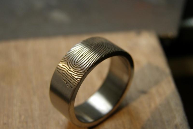Vingerafdruk ring 180c 6mm breed