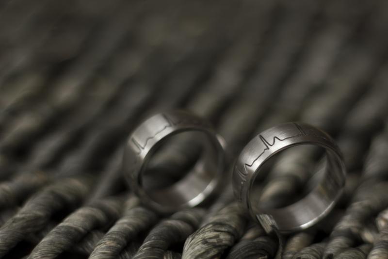ECG Ringen Hartslag ringen / Titanium