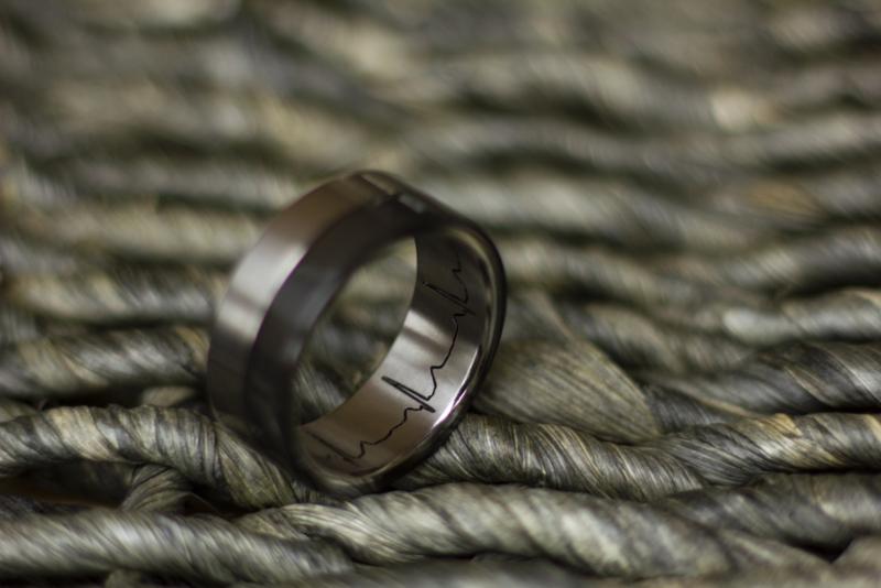 Titanium & Zirkonium ringen met ecg