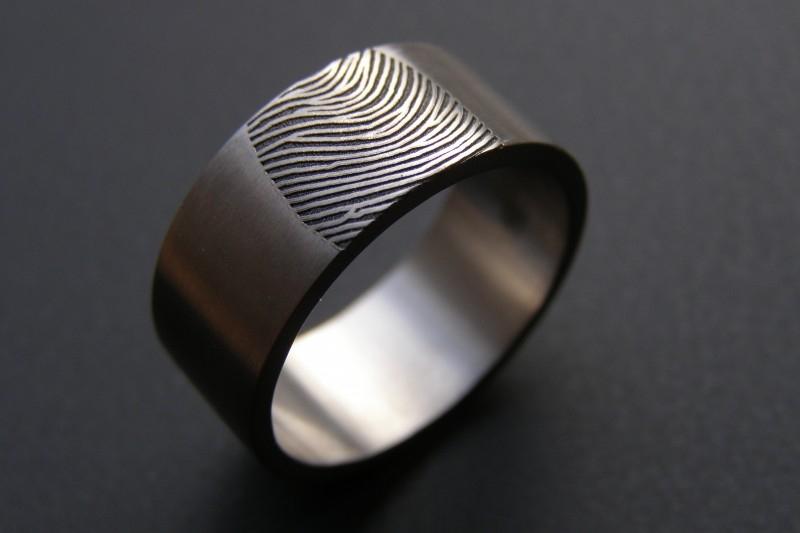 Vingerafdruk ring