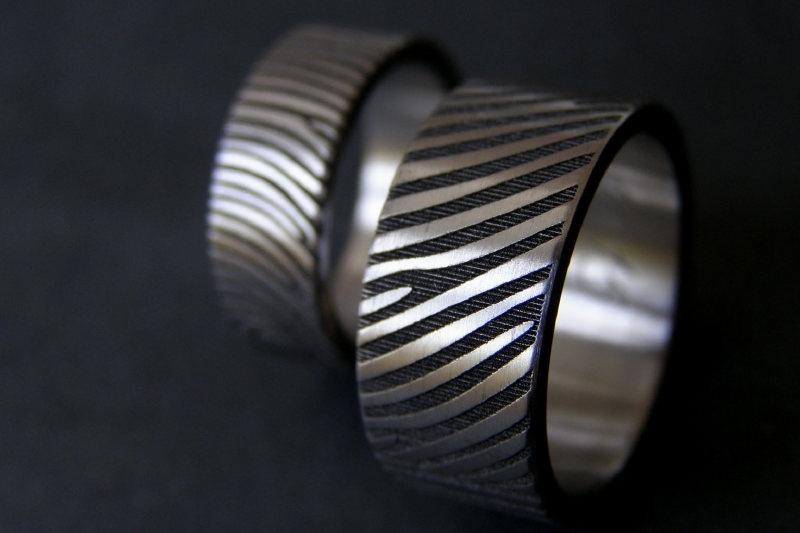 Titanium vingerafdruk ring met 360C vingerafrdruk