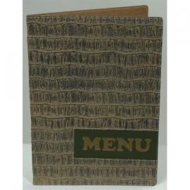 Bruine menukaart A4, Reptile Design (MC-DRA4-REPTILE)