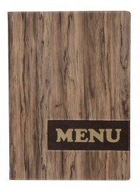 Hout look menukaart A4, Design (MC-DRA4-WOOD)