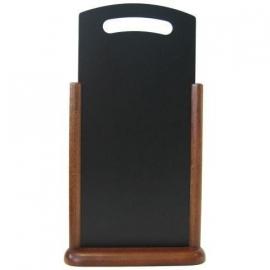 Donkerbruin Tafelmodel presentatiebord met handgreep, 21x45 cm (TT-DB-LA)