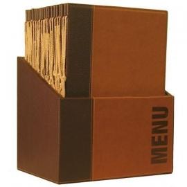 Luxe menukaarten box inclusief 20 menukaarten uit de Trendy serie, Bruin (MC-BOX-TRA4-LB)