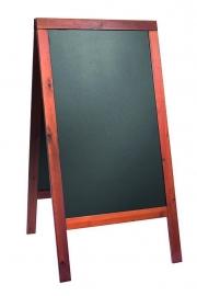 Stoepbord Mahonie hout Woody Groot 125x70 cm (SBSW-M-120)