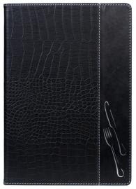 Zwarte krokodillen menukaart A4, Design (MC-DRA4-CROC)