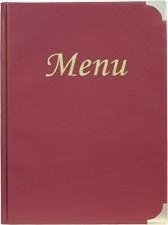 Wijnrode menukaart Basic A4 (MC-BRA4-WR)