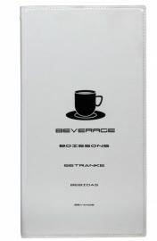 Witte drankkaart A5 lang, Design (MC-TRBC-WT)