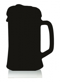 6x tafel-krijtbordje op aluminium voet Bier (FBTA-BEER)