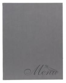 Grijze menukaart A4, Velvet Design (MC-DRA4-VELVET)