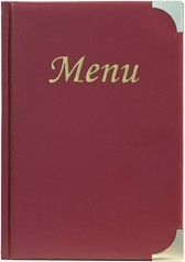 Wijnrode menukaart Basic A5 (MC-BRA5-WR)