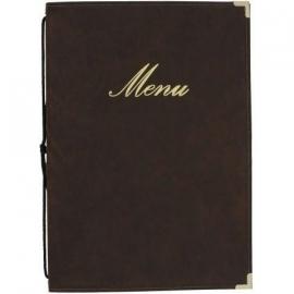 Bruine menukaart Classic A4 (MC-CRA4-BR)