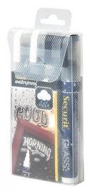 Dunne waterproof krijtstiften Wit en Blauw 4x (SMA610-V4-BW)