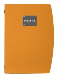 Oranje kunststof menukaart A4, Brazil MC-RCA4-OR)