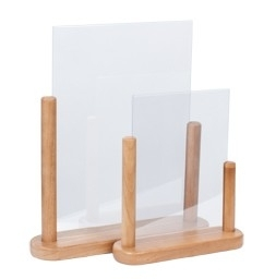 Posterbord Teak hout A5  (PFT-TE-ME)