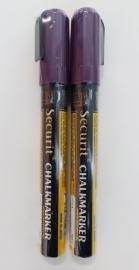 2 krijtstiften in de kleur paars (geen blisterverpakking)