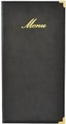 Zwarte menukaart Classic lang (MC-CR45-BL)