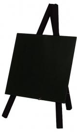 Zwart houten Mini tafel bordjes, Set van 3 stuks (MNI-BL-KR)